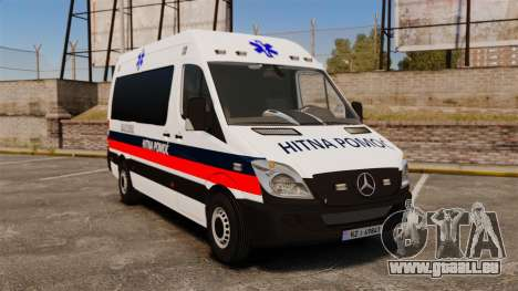 Mercedes-Benz Sprinter Zagreb Ambulance [ELS] pour GTA 4
