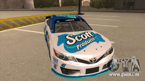 Toyota Camry NASCAR No. 47 Scott pour GTA San Andreas laissé vue