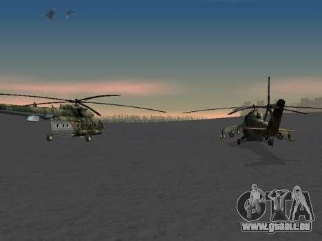 MIL MI-8 für GTA San Andreas Innenansicht