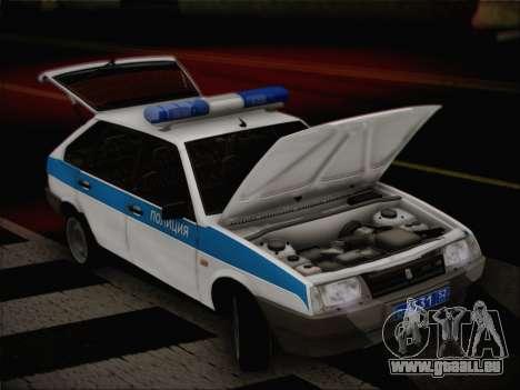 VAZ 2109 PPP pour GTA San Andreas vue arrière