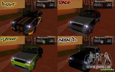 Blista Compact Type R pour GTA San Andreas vue de dessous