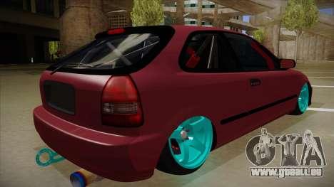 Honda Civic EK9 Drift Edition pour GTA San Andreas vue de droite