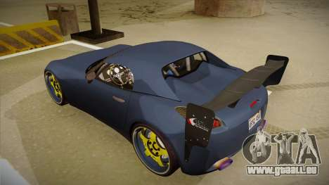 Pontiac Solstice Rhys Millen für GTA San Andreas Rückansicht