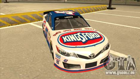 Toyota Camry NASCAR No. 47 Kingsford pour GTA San Andreas laissé vue