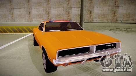 Dodge Charger 1969 (general lee) für GTA San Andreas linke Ansicht