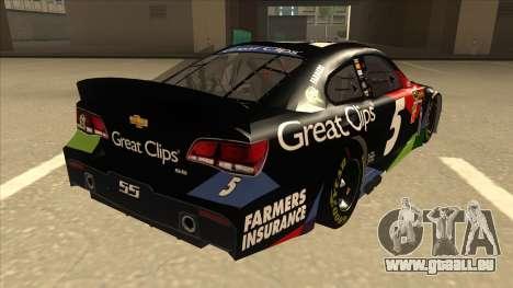 Chevrolet SS NASCAR No. 5 Great Clips pour GTA San Andreas vue de droite