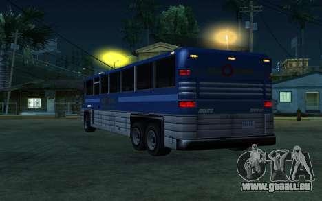 New Coach pour GTA San Andreas vue de droite