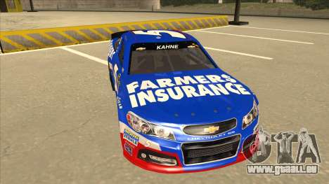 Chevrolet SS NASCAR No. 5 Farmers Insurance für GTA San Andreas linke Ansicht