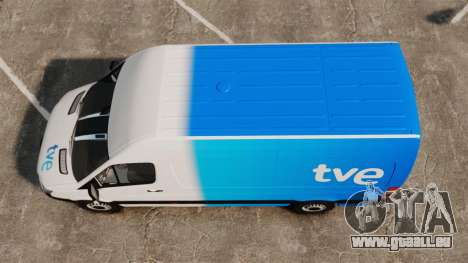 Mercedes-Benz Sprinter Spanish Television Van für GTA 4 rechte Ansicht
