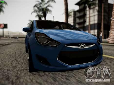 Hyundai ix20 für GTA San Andreas Rückansicht