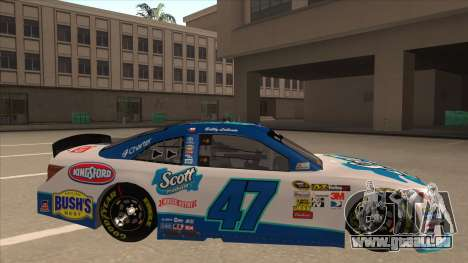 Toyota Camry NASCAR No. 47 Scott für GTA San Andreas zurück linke Ansicht