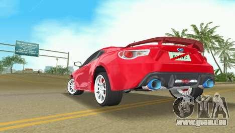 Subaru BRZ Type 3 pour GTA Vice City vue arrière