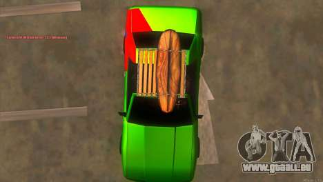 Elegy New Year for JDM für GTA San Andreas obere Ansicht