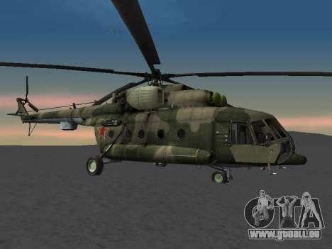 MIL MI-8 für GTA San Andreas zurück linke Ansicht