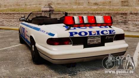 La version cabriolet de la Police pour GTA 4 Vue arrière de la gauche
