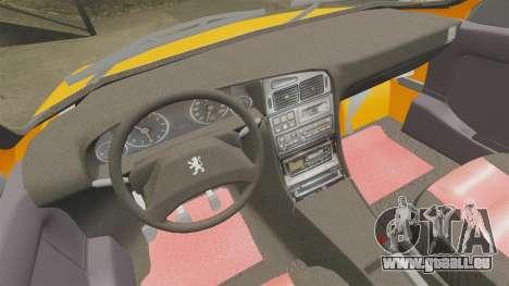 Peugeot 405 GLX Taxi für GTA 4 Seitenansicht