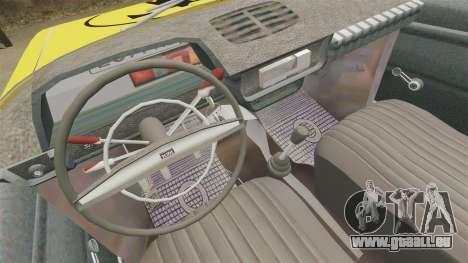 IZH-moskvitch 412 pour GTA 4 Vue arrière