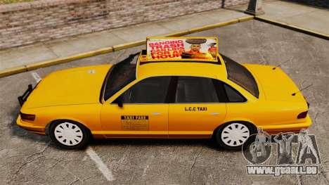 Taxi mit neuen Festplatten-v2 für GTA 4 hinten links Ansicht