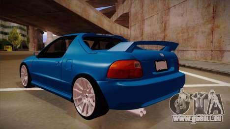 Honda CRX Del Sol pour GTA San Andreas vue arrière