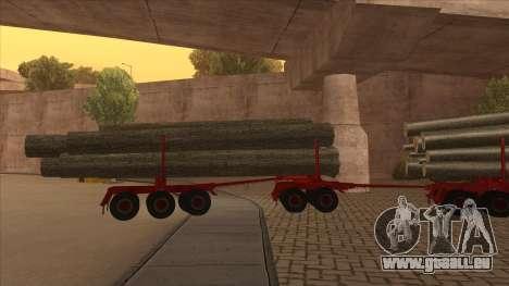 Der mittlere Teil des Anhänger-Holzes zu Hayes H für GTA San Andreas rechten Ansicht