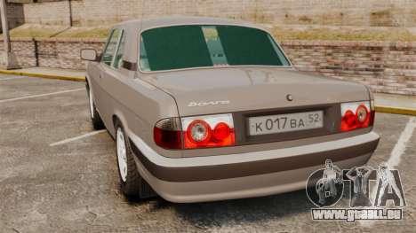 Volga gaz-3110 coupé pour GTA 4 Vue arrière de la gauche