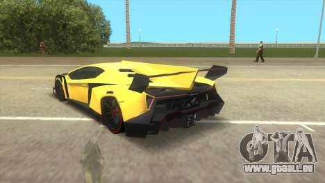 Lamborghini Veneno pour une vue GTA Vice City de la gauche