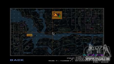 Carte des places pour GTA San Andreas