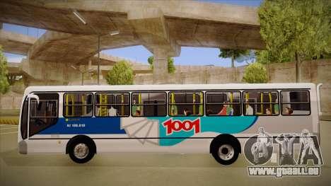 Busscar Urbanuss Pluss 2009 für GTA San Andreas zurück linke Ansicht