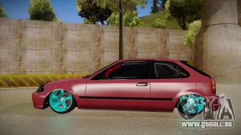 Honda Civic EK9 Drift Edition für GTA San Andreas zurück linke Ansicht
