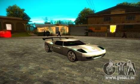 Bullet GT32 Big Spoiler pour GTA San Andreas sur la vue arrière gauche