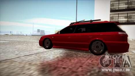 Subaru Legacy Wagon Hellaflush pour GTA San Andreas laissé vue