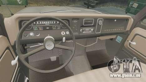 Chevrolet C-10 Stepside v2 pour GTA 4 est une vue de l'intérieur