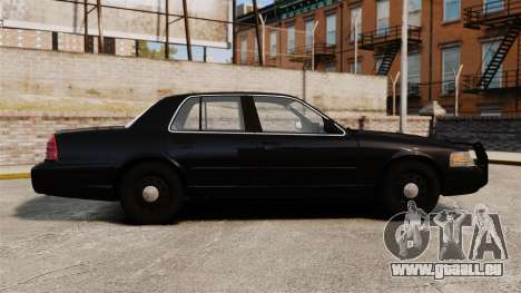 Ford Crown Victoria 2008 FBI für GTA 4 linke Ansicht