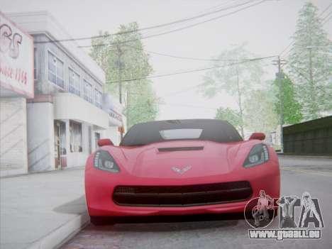 Chevrolet Corvette C7 Stingray 2014 für GTA San Andreas Rückansicht