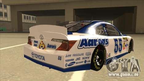 Toyota Camry NASCAR No. 55 Aarons DM white-blue für GTA San Andreas rechten Ansicht