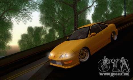 Honda Integra Type-R Hellaflush pour GTA San Andreas laissé vue