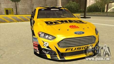 Ford Fusion NASCAR No. 9 Stanley DeWalt pour GTA San Andreas laissé vue