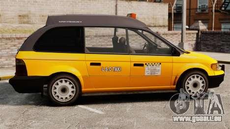 Verbesserte taxi für GTA 4 linke Ansicht