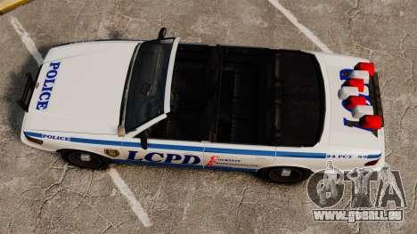 Die Cabrio-Version der Polizei für GTA 4 rechte Ansicht