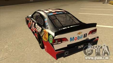Chevrolet SS NASCAR No. 14 Mobil 1 Tracker Boats pour GTA San Andreas vue arrière