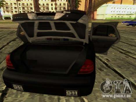 Ford Crown Victoria Police Interceptor pour GTA San Andreas vue de dessus