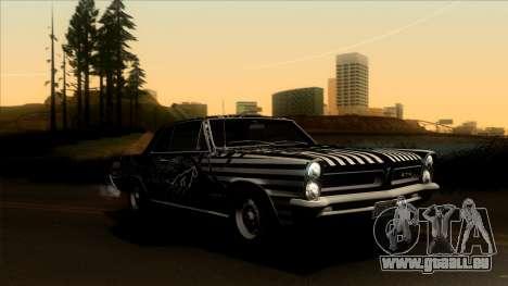 Pontiac Tempest LeMans GTO Hardtop Coupe 1965 pour GTA San Andreas vue de côté