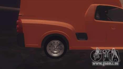 Chevrolet Montana Combo pour GTA San Andreas sur la vue arrière gauche