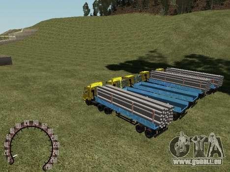 Remorque bois pour GTA San Andreas vue de droite