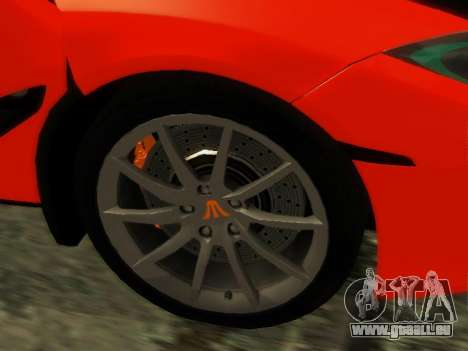 McLaren MP4-12C WheelsAndMore für GTA San Andreas Rückansicht