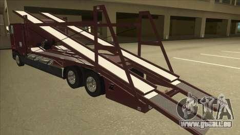 International 9700 Car Hauler pour GTA San Andreas vue arrière