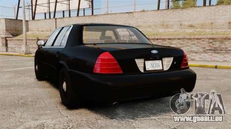 Ford Crown Victoria 2008 FBI pour GTA 4 Vue arrière de la gauche