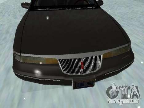 Lincoln Continental Mark VIII 1996 für GTA San Andreas Unteransicht