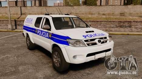 Toyota Hilux Croatian Police v2.0 [ELS] pour GTA 4
