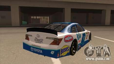 Toyota Camry NASCAR No. 47 Scott pour GTA San Andreas vue de droite